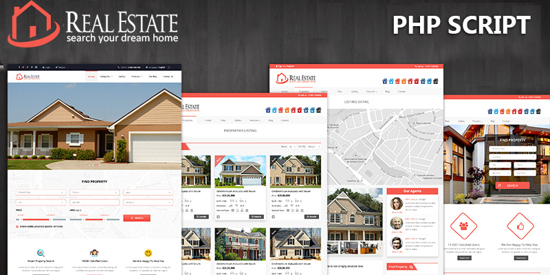 Custom PHP Real Estate Script for Real Estate Website