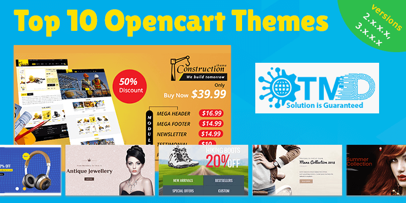 top 10 themes for creating e-commerce website using opencart