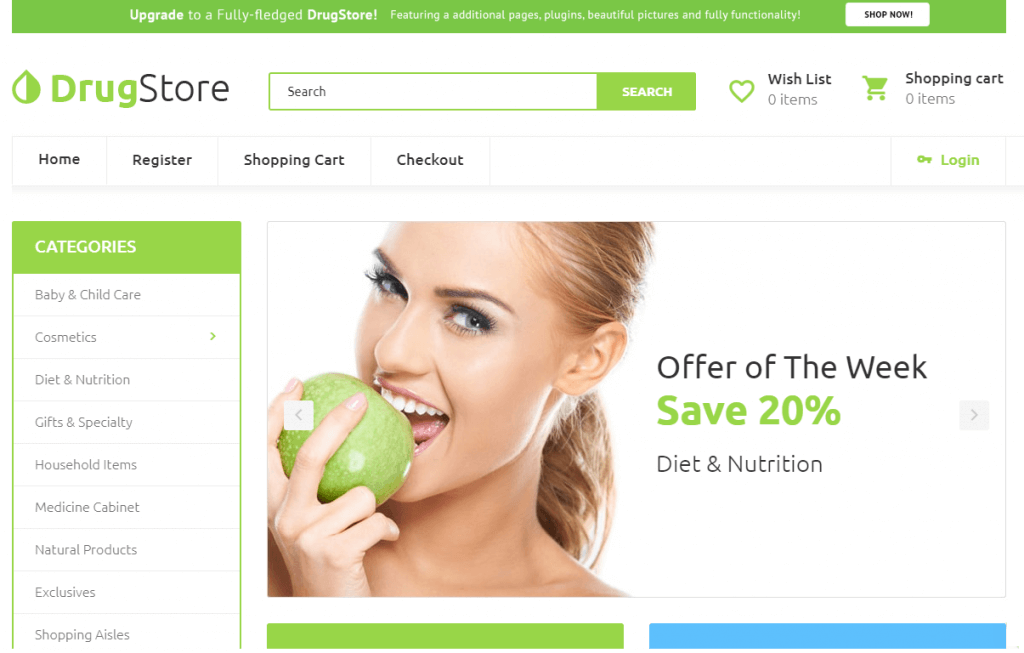 Drug Store - Drug Store Multipage Clean Template