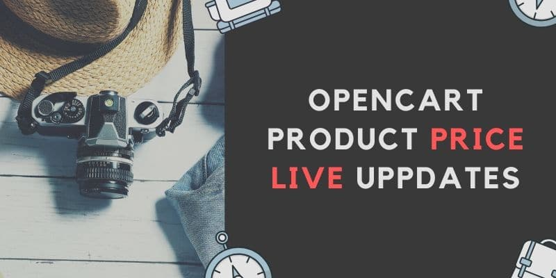 OpenCart product price live update